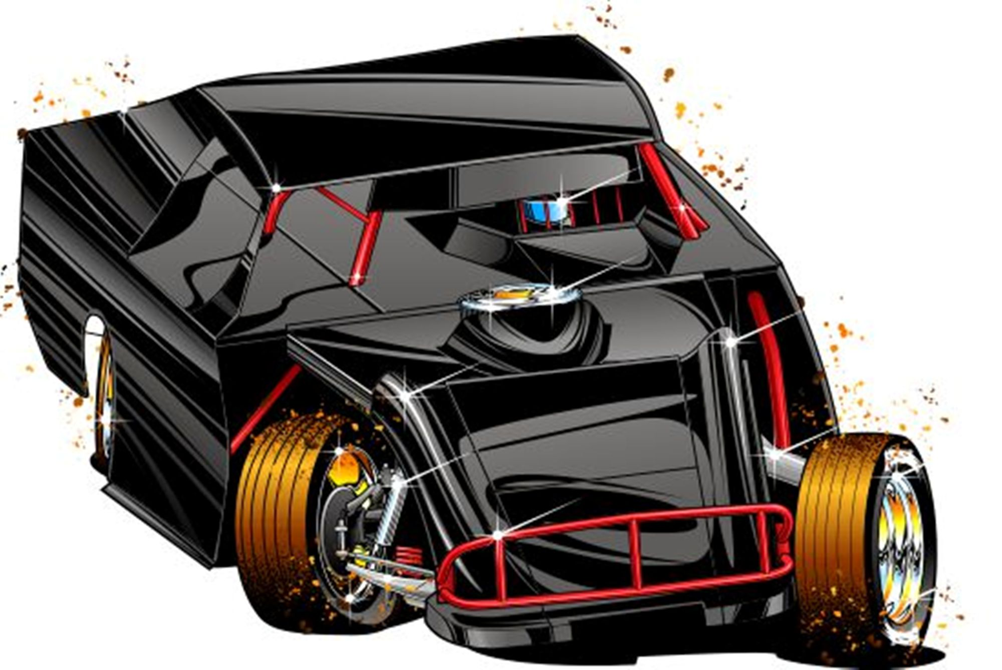 Black and Red Auto Illustration